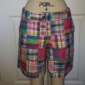 Plaid Talbots shorts
